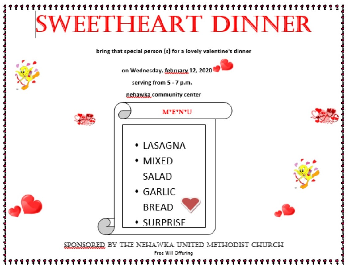 Sweetheart dinner021220