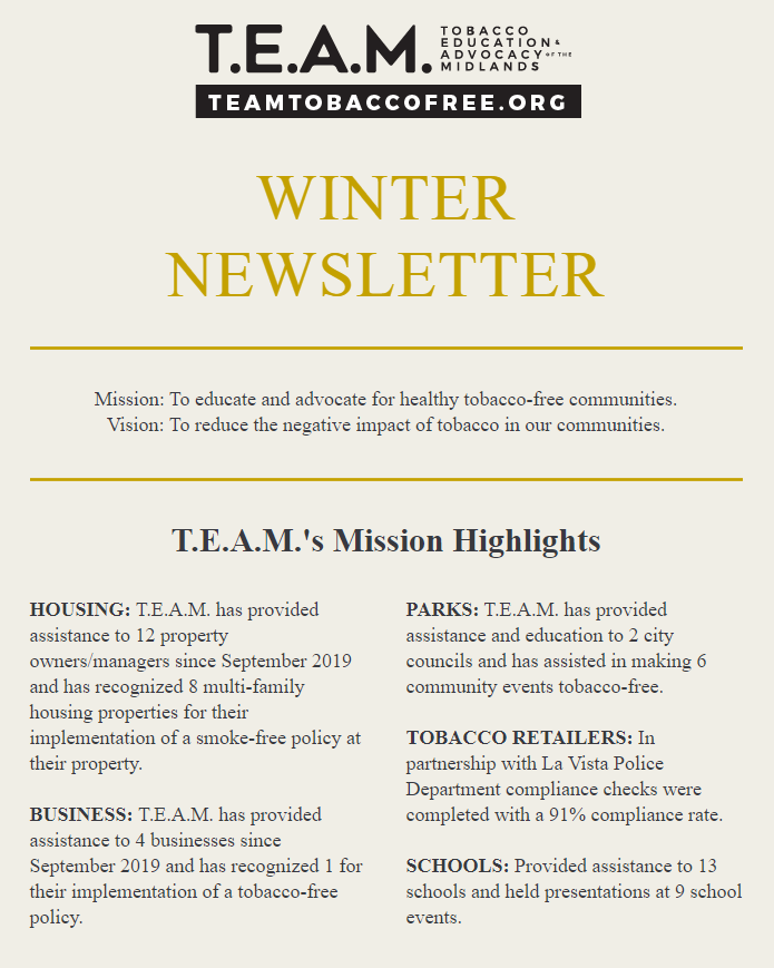 TEAM newsletter