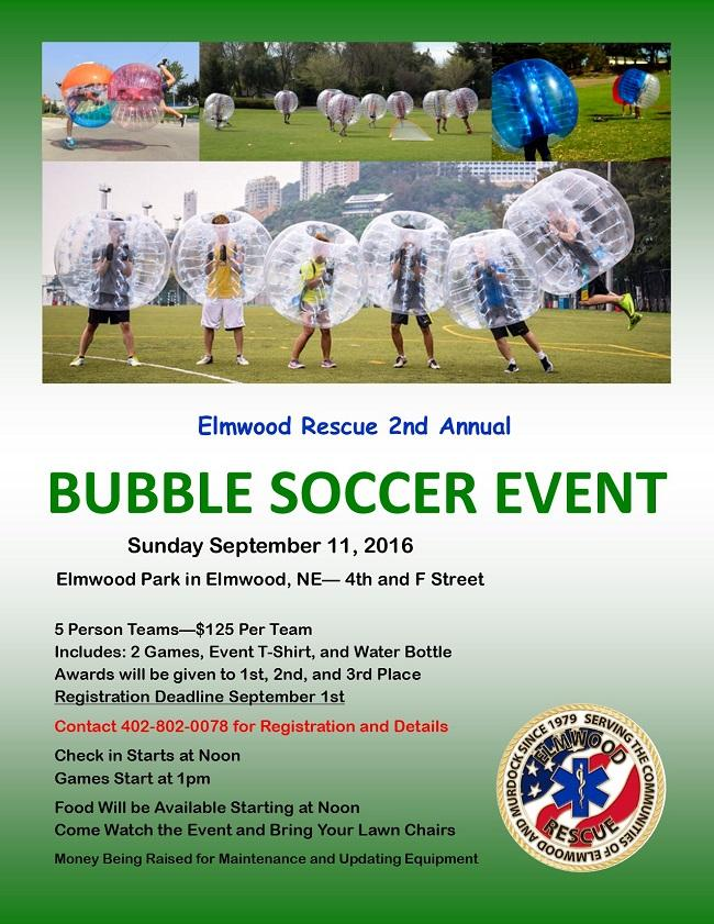 Bubble Soccer Flyer 2016