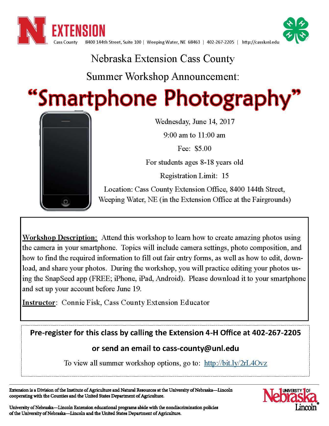 7 Smarthone Photography flyer
