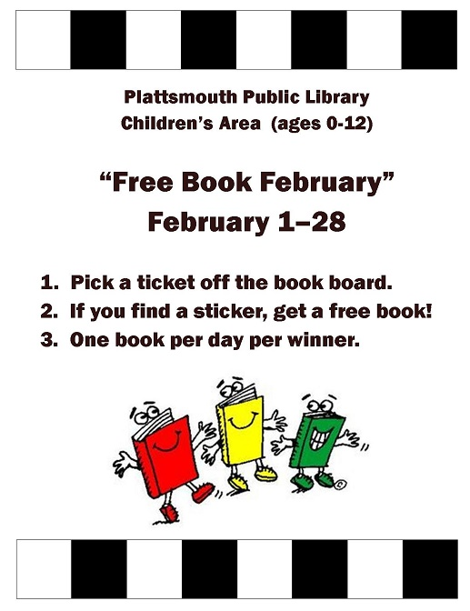 Free Book February Poster