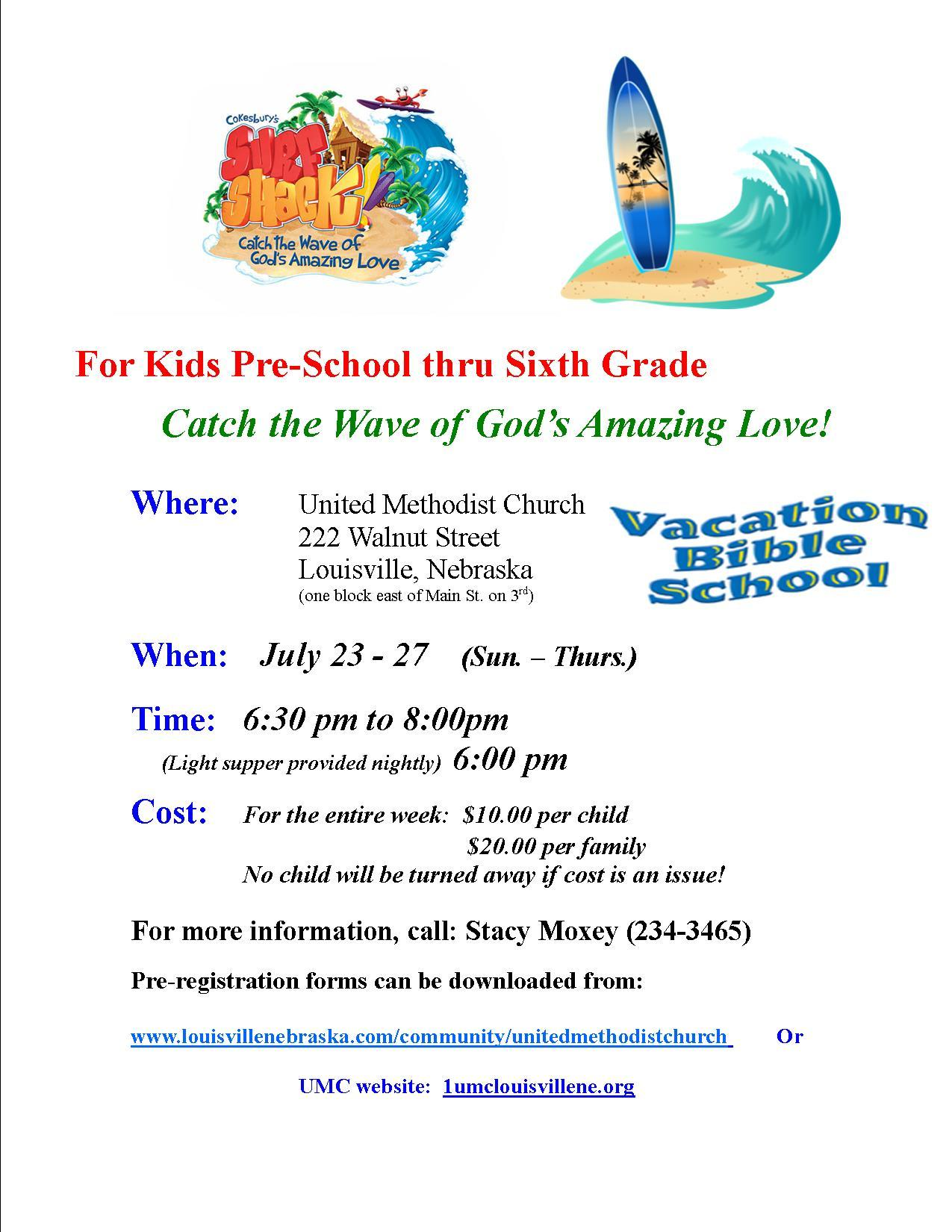 VBS 2017 flyer Catch the Wave