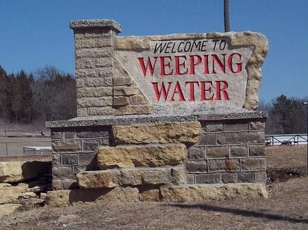 WEEPING WATER SIGN