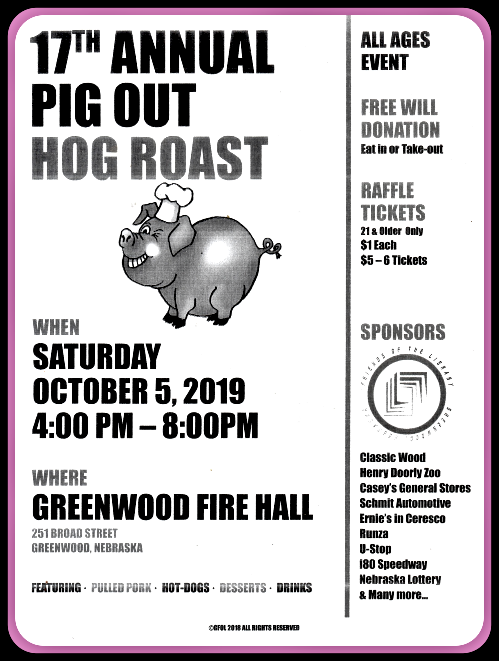 2019 09 18 GRN pig roast at Fire Hall