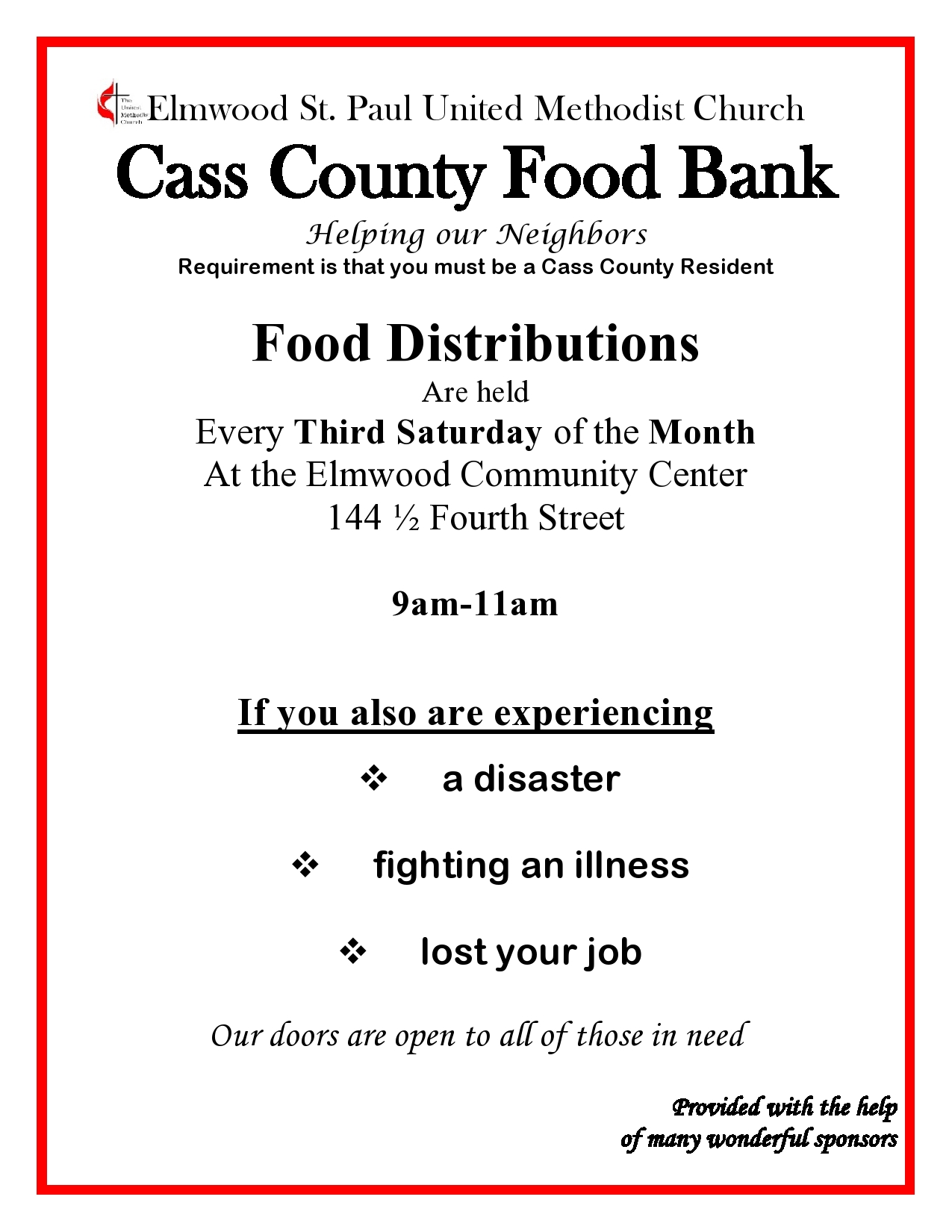 Cass Co Food bank 2019